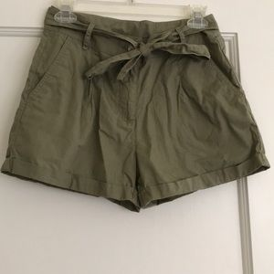 Forever 21 Army Green Shorts w/ Tie Belt